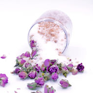 Picture of BATH SALTS with DAMASK ROSE PETALS & BUDS