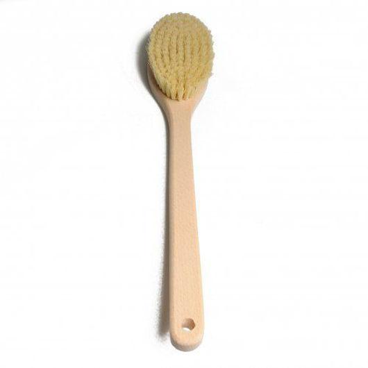 Natural VEGAN Long Handle Cactus Brush