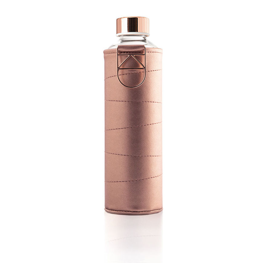 EQUA MISMATCH BRONZE SUSTAINABLE GLASS WATER BOTTLE WITH COVER