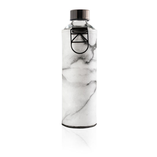 EQUA MISMATCH STONE SUSTAINABLE GLASS BOTTLE WITH COVER