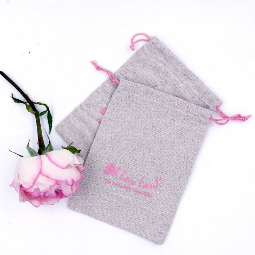 Image sur Oh Lou Lou! LINEN Reusable Gift Bag  with HEMP string