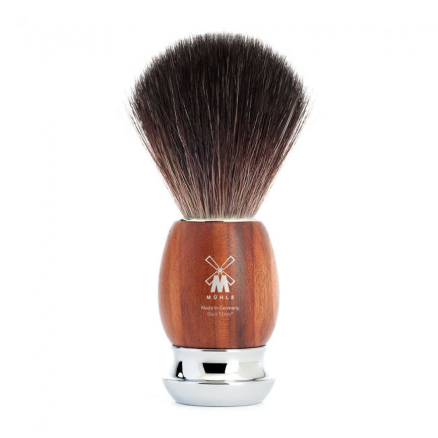 Picture of VIVO Shaving brush from MÜHLE, Black Fibre, handle plum wood