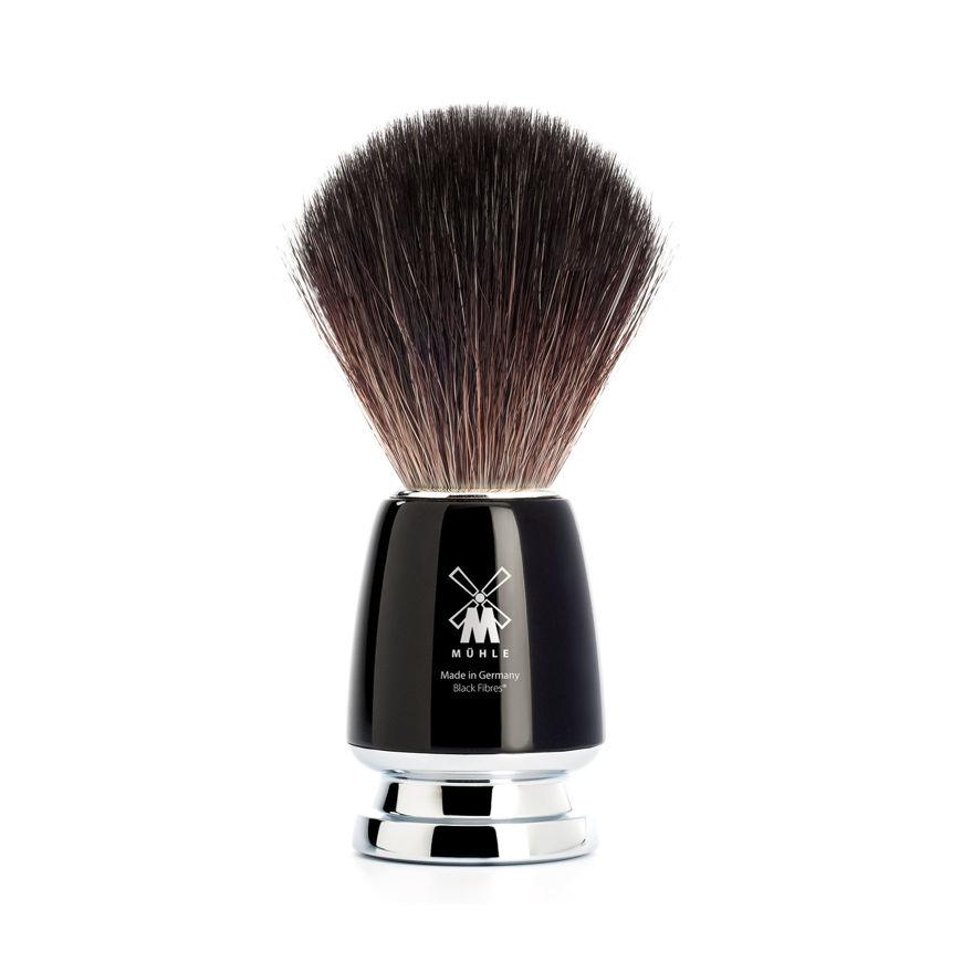 Picture of RYTMO Shaving brush from MÜHLE, Black Fibre, handle resin black