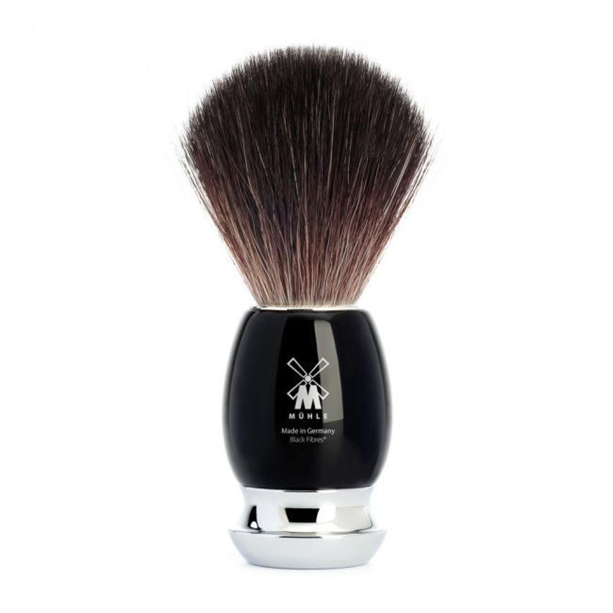 Picture of VIVO Shaving brush from MÜHLE, Black Fibre, handle resin black